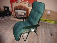 Green reclining chair