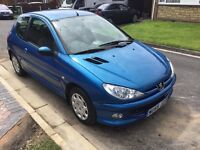 Peugeot 206 1360cc special edition zest 3 2005 facelift model 3 door hatch new mot one owner
