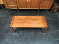 Teak Coffee Table by D Scan. Retro Vintage Mid Century. Danish Style