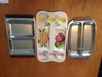 Stainless steel trays and Made in Italy ceramic tray