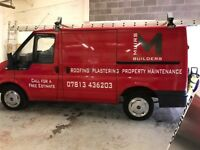 MUIRS BUILDERS roofing roofer and plasterer plastering