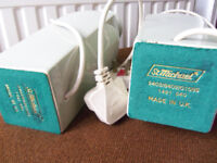 Vintage St.Michael's large table lamps X2 marrow green - H 30cm W 8cm
