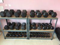 Rubber Hex Dumbells set 1-30kg
