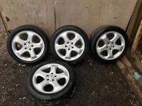 """Set of 4 17"""" Mercedes Alloy Wheels with tyres"""