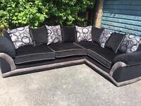 Used DFS black corner sofa