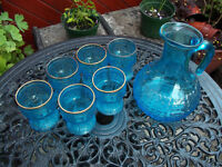 Vintage Glassware- jug and glasses