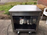 MOFFAT STAINLESS STEEL MOBILE SERVERY / TILL UNIT