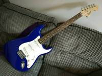 Squire Fender Strat in electric blue