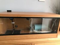 3ft vivarium with temperature controlled heat mat and thermometer. Like new