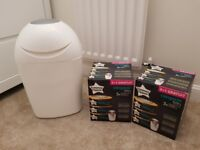 Tommee tippee nappy bin with 6 cartridges