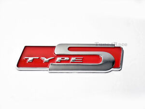 Type S Red emblem badge sticker decal For Honda Acura RSX New ABS Plastic