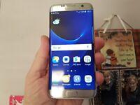 Samsung Galaxy S7 Edge Unlocked Silver Titanium Great condition