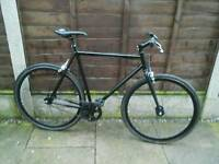 RETRO STYLE SINGLE SPEED ROAD BIKE, 700 ALLOY WHEELS,