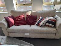 Big cream 3 seater sofa