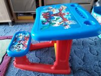 Children Spiderman Table with chair VGC