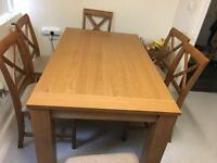 Extendable Dining table with six chairs (SOLD)