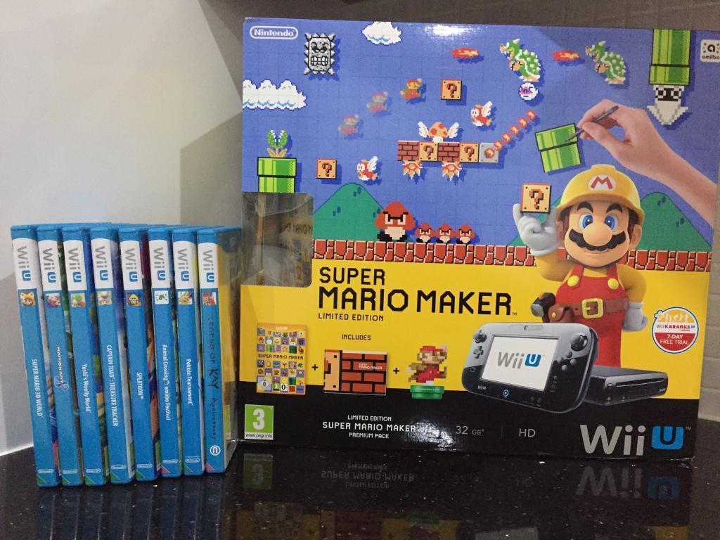 Super Mario Maker Limited Edition WiiU 32Gb Premium   in Johnstone,  Renfrewshire   Gumtree