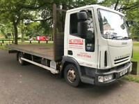 Iveco eurocargo 7.5ton gross 20ft. Flat bed truck mint condition