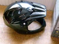 HOOD FULL FACE BLACK MOTOR BIKE HELMET NEW