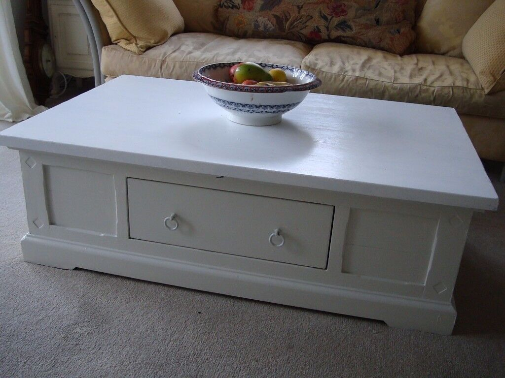 Large Painted Coffee Table