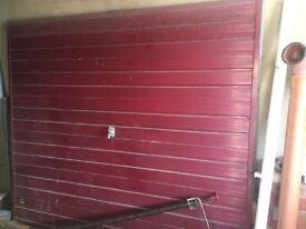 Free up and over garage door