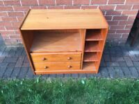 Oak effect Television and DVD Cabinet