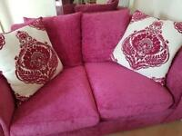PINK SOFAs and CUDDLE CHAIR