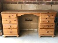 Oak dressing table with 8 Drawers