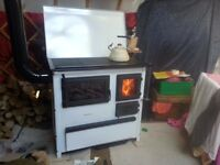 7.5kw MBS 'Trend' woodburner (Takes coal) - with cooker top and oven: world class 77% efficient