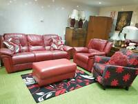 *free local delivery* Red leather electric recliner suite