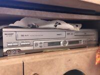 SHARP DV-NC5R VHS HI-FI video casette recorder and dvd player