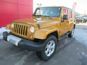 2014 Jeep Wrangler Unlimited Sahara*2 ROOFS*NAVIGATION*LOW KM'S