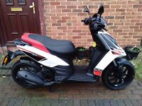 2016 Aprilia SR MOTARD 125 scooter, extra low miles, great runner, very good condition, ride away,,,