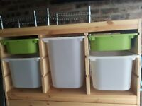 Ikea Trofast Storage Unit with Boxes