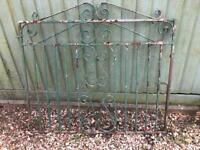 Single Wrought Iron Decorative Gate