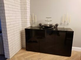 Gloss black sideboard
