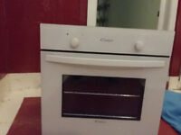 white candy integrated oven