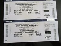 Good Mourning Mrs Brown Tickets x 2 - Leeds - June 29th at 7.30pm