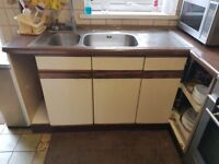 FOR SALE - Used Full Simple Kitchen Worktop and cupboards set for sale