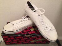Men's Vans White Canvas Size 12 Eur 47