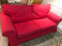 FREE two seater Red Ikea sofa