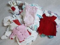 Large Bundle of Baby Girl Clothes 0-3mths