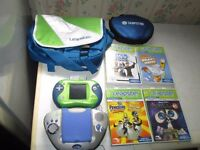 LEAPSTER 1 AND 2 CONSOLES,5 GAMES,1 CARRY CASE,1 CASE