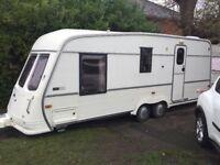 Top of the range twin axle 4 birth van Royce caravan