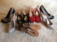 For Sale - Five pairs of size 6 women's shoes