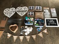 Job lot of wedding accessories and decorations