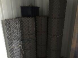 Marquee plastic rigid interlock flooring.