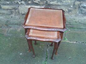Nest of (2) Mahogany Tables