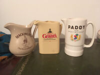 Collection of vintage whisky jugs
