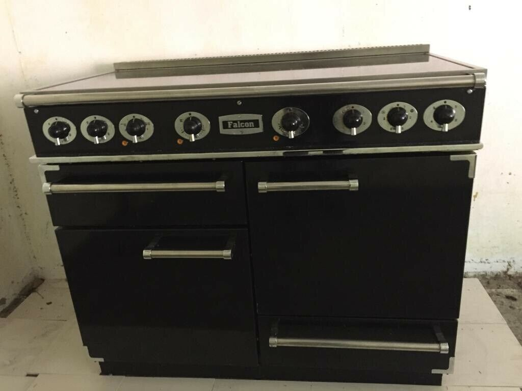 Falcon 1092 Ceramic Electric Range Cooker Black